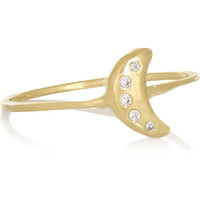 SCOSHA - Tiny Moon 10-karat gold diamond ring