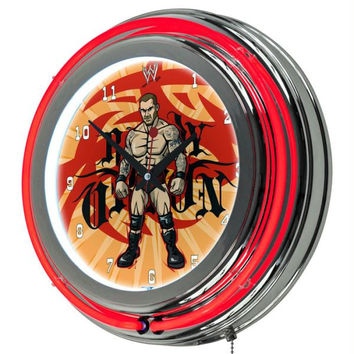 WWE Kids Randy Orton Neon Clock - 14 inch Diameter