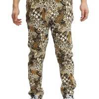 Men's Hawaiian Tonal Floral Twill Jogger Pants JG845 - J15D