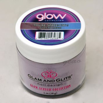 Glam and Glits GLOW ACRYLIC Glow in the Dark Nail Powder 2035 Youre-Space-Cial