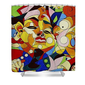 Cartoon Painting With Hidden Pictures - Shower Curtain