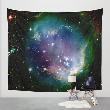 Wall Tapestry - 'Star Clusters' - Home Decor - Wall Decor, Modern, Home, Warming Gift, Symmetry, Bohemian, Boho, Abstract, Space