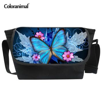 Boys bookbag trendy Coloranimal Cute Butterfly School Bags for Girls Boys Big Canvas Messenger Bags Children Animal Schoolbag Kids Satchel s AT_51_3