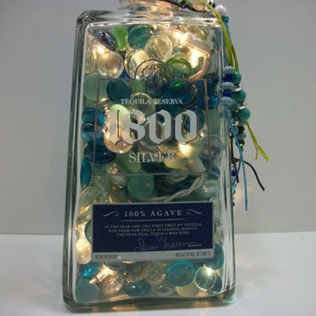 Lighted Bottles - Liquor Bottle Lamp - Home Bar Light - Bottle Light