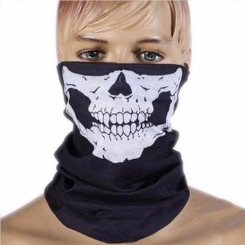 CREYET7 Unisex Skull Multi Bandana Bike Motorcycle Scarf Face Mask CS Ski Headwear Neck party masks halloween mask motorcycle mask skull