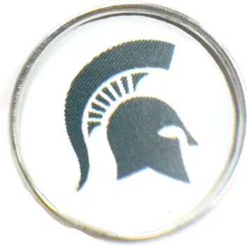 MSU Michigan State Spartans College Logo Fashion Snap Jewelry University Snap Charm