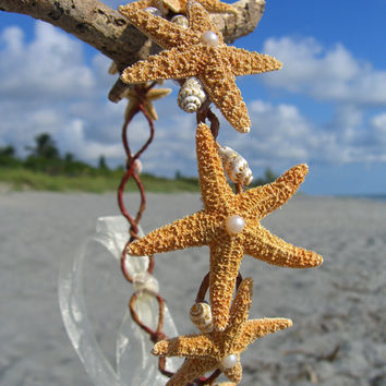 Beach Wedding Crown,Starfish Bridal Crown,Wedding Crown,Hair Crowns,Nautical Wedding,Mermaid Headpiece,Mermaid Crown,Starfish Hair