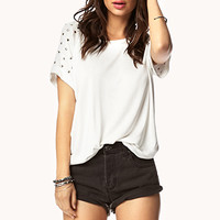 Studded Sleeve Tee