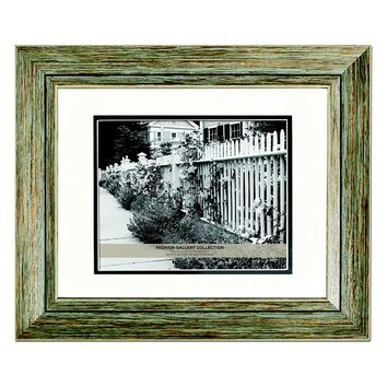 Belle Maison 8'' x 10'' Distressed Matted Frame (Blue)