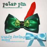 Peter Pan & Wendy Hair Bow Set