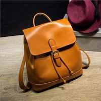 Leather Backpack Restore ancient ways Women's Backpack Leather Travel bag