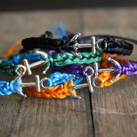 'Anchor Yourself' Satin Recovery Bracelet