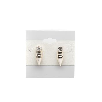 Bullet with Cubic Zirconia Fashion Earrings
