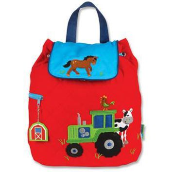 Personalized Quilted Stephen Joseph Backpack Boy Farm