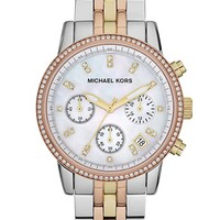 Women's Michael Kors 'Ritz' Chronograph Bracelet Watch, 36mm