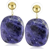 "Amanda Rudey ""Rock Candy"" Sodalite Jawbreaker Earrings"