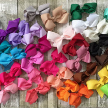 40 piece hair bow - rainbow collection