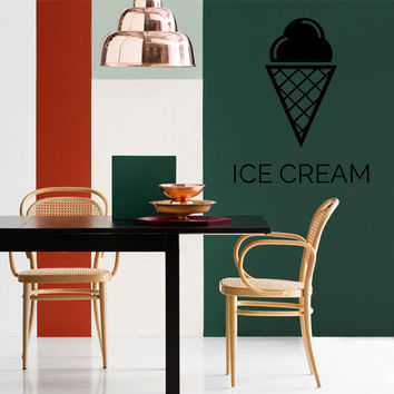 Wall Decor Vinyl Sticker Room Decal Ice Cream Café Coffee Kitchen Lunch Sweet Sweetness Honey (s179)