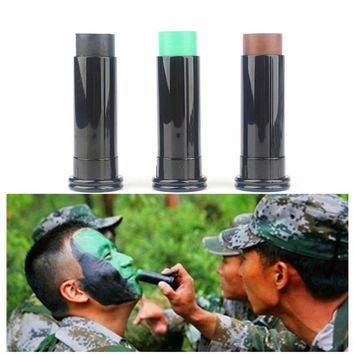 3pcs/box Military Woodland Camouflage Ghillie Suits Hiden Waterproof Face Paint Oil Tricolor Camouflage Oil Hunting Accessories
