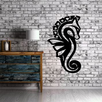 Sea Horse Ocean Sea Marine Animal Art Decor Wall Mural Vinyl Sticker Unique Gift M439