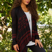 Escape Aztec Cardigan - Rust