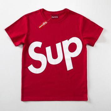 Cheap Women's and men's supreme t shirt for sale 85902898_0142