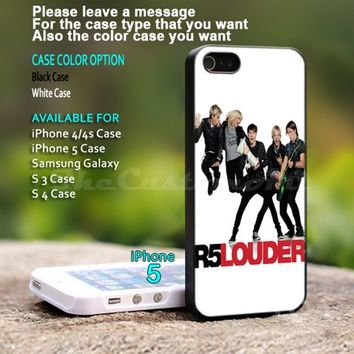 R5 Louder Band - For iPhone 5 Black Case Cover