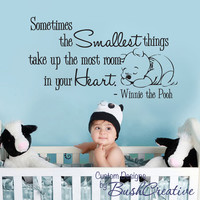 "Wall Decal Winnie the Pooh Nursery Wall Words Large 003-35"" (LARGE)"