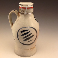 Soda Fired Growlette with brushwork