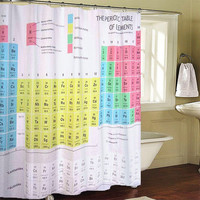 Periodic Table Special Custom Shower Curtains