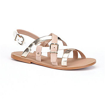 Gianni Bini Talyn Banded Flat Sandals | Dillards.com
