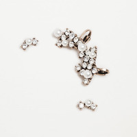 EARCUFF EARRINGS WITH CRYSTAL PEARLS PACK OF 3