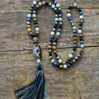 Tassel & Semi Precious Stone Necklace
