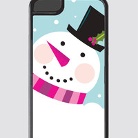 Custom iPhone Case, Holiday Phone Case, iPhone 5 Case, iPhone 6 Case, Winter, Snowman, Pink