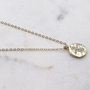 Vintage Coin Cross Necklace