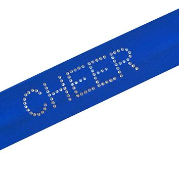 CHEER Rhinestone Studded Stretch Headband From Funny Girl Designs Cheering Headband for Girls, Teens and Adults - Gifts for Cheerleaders