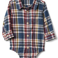 Plaid flannel shirt bodysuit | Gap