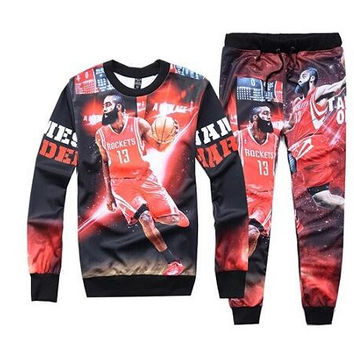 James Harden Printed Streetwear Sweatshirts & Sweatpants Mens Womens Tracksuit Set Track Suit Jogger Set