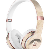 Micro Faded Tan Damask Pattern Full-Body Skin Kit for the Beats by Dre Solo 3 Wireless Headphones