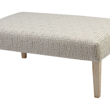 Hannah Bench Gray Bedroom Bench from e Kings Lane