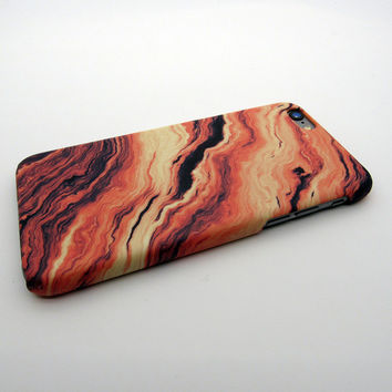 Orange Marble Stone iPhone 7 7 Plus & iPhone 5s se & iPhone 6 6s Plus Case Personal Tailor Cover + Gift Box
