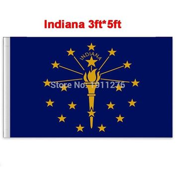 New fashion 90*150 cm Indiana flag United State American Banner Office/Activity/parade/Festival/Home Decoration