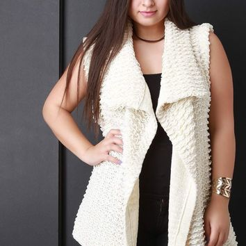 Pulled Knit Sweater Vest
