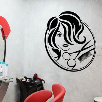Vinyl Wall Decal Beauty Hair Salon Signboard Hairdressing Salon Stickers Unique Gift (1901ig)