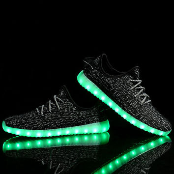 New Arrival Men Casual Glowing LED Shoes