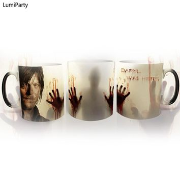 LumiParty Drop shipping!The walking dead Mug color changing Heat Sensitive Ceramic 11oz coffee cup surprice gift for boy friend