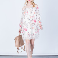Lacey Floral Printed Dress