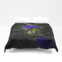 Violet flowers Duvet Cover by vanessagf