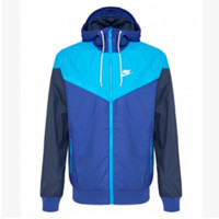 """NIKE""Fashion Hooded Zipper Cardigan Sweatshirt Jacket Coat Windbreaker Sportswear Sapphire blue-Light blue"