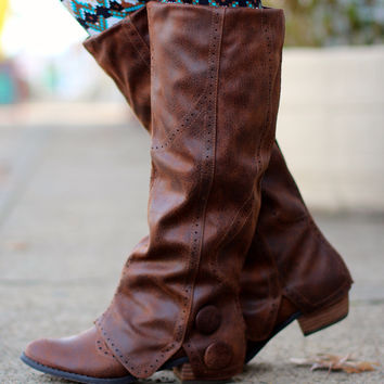 Bailey Button Riding Boot {Tan}